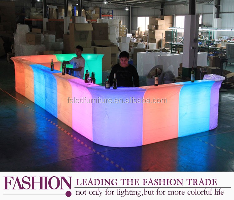 reception counter table/unique bar table furniture/led plastic portable bar counter furniture