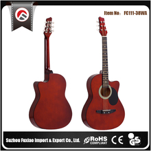 Colorful 38inch OEM High End Slim Wholesale Thin Acoustic Guitar