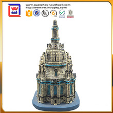 customized 3D building model and resin antique architecture model and miniature castle statue for sale