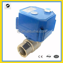 "manual-override 3/4"" 12vDC/AC 24vDC/AC brass electric motorized ball valve motor operated control valve"