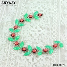 fancy plastic beads trim for collar
