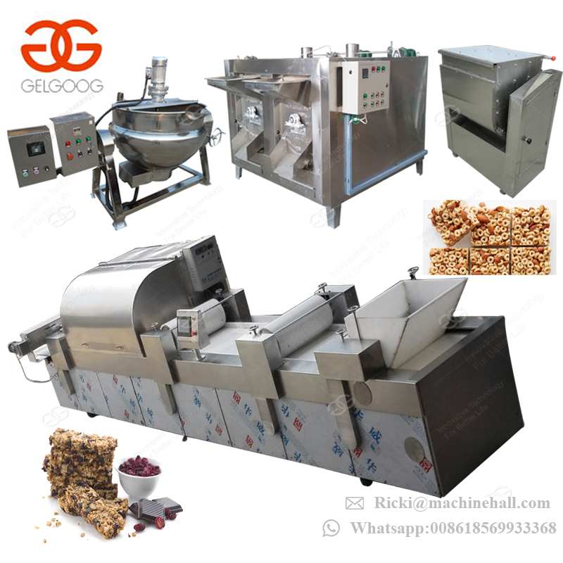 Hot Sale Automatic Energy Bar Extruder Nut Almond Bars Groundnut Candy Making Production Line Peanut Brittle Machine