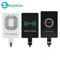 Qi Wireless Charger Receiver For 5s SE 7 6 6s Plus Universal Wireless Charging Receiver Module For Micro USB Type-C Phone