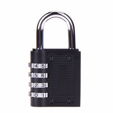 4 dial digit password lock combination suitcase luggage metal code lock padlock zinc alloy coded lock keyed padlock