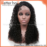 High Temperature Fiber Wig 18 inch kinky curl lace Wig afro hair wigs grey