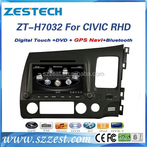 For honda civic Car audio gps 2 din 2006-2011 (right hand drive) ZT-H7032