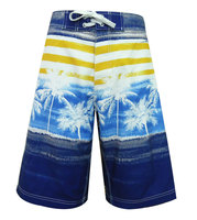 100% microfiber hawaiian tropical coconut mens plus size surf shorts