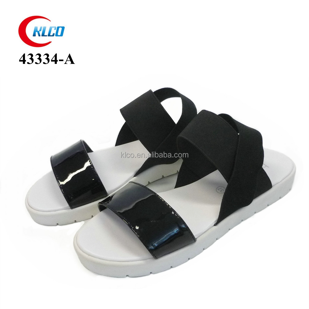 2016 latest fashion custom pu leather woman sandal
