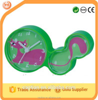 cute animal shape plastic table clock