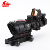China RMR Hunting 4x32 Optical Riflescope 2 MOA Fiber Laser Red Dot Sight Acog scopes