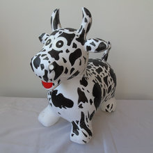 Full printing Wholesale hot sale colorful PVC inflatable Toy Animal and bouncing plastic jumping animal with cow