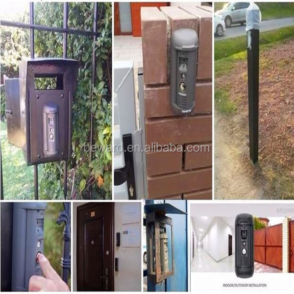 SIP IP Camera Intercom for apartment security with vandal-proof and water-proof door electrical