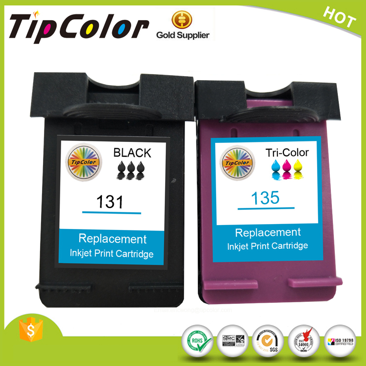 Compatible HP 2710 2610 325 PSC2355 C8766H 135 Ink cartridge