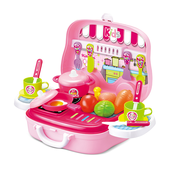 Wholesale kids funny pretend set toy kitchen play set with suitcase