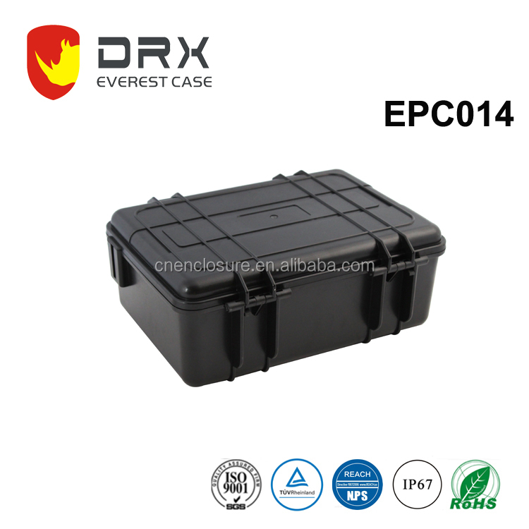 Hard Plastic ABS/PP equipment carrying case waterproof enclosure with customized foam