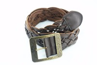 ladies decorated genuine leather knitted belt