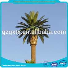 camouflaged concealment bionic communication palm tree steel telecom tree like tower