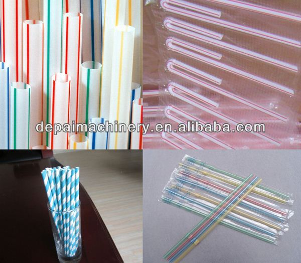 Drinking straw extruder plastic straw pipe making machine