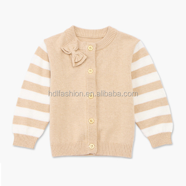 Cotton fabric newborn baby product latest cardigan beige sweater