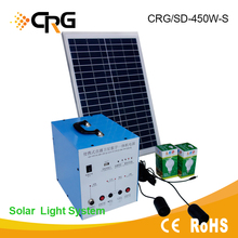 450W Portable Stand Alone Home Solar Kit with Lighting