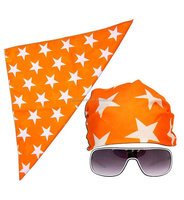 New 2016 cheap motorcycle Macho Man Star Printed red/orange/purple /pink polyster Costume custom cap scarf Glasses hat Bandana
