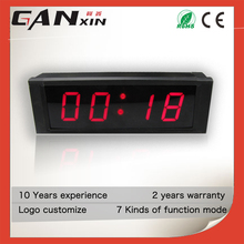 1 inch led ultronic weather station clock mini led digital clock with multi color for home use