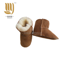 2017 Hot Sale Leather fur Baby Shoes Fancy Baby Girls Shoes Winter shoes