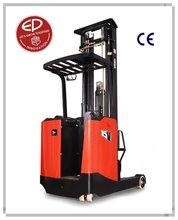China competitive price warehouse equipment 1.5Ton Stand-up Reach truck CQD15S with backrest for narrow aisles and high racking