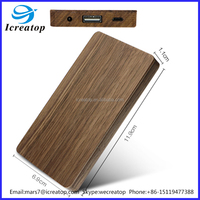 Mobile power supply power bank 4000mAH Wood shell Port External Backup Powers For Cellphone