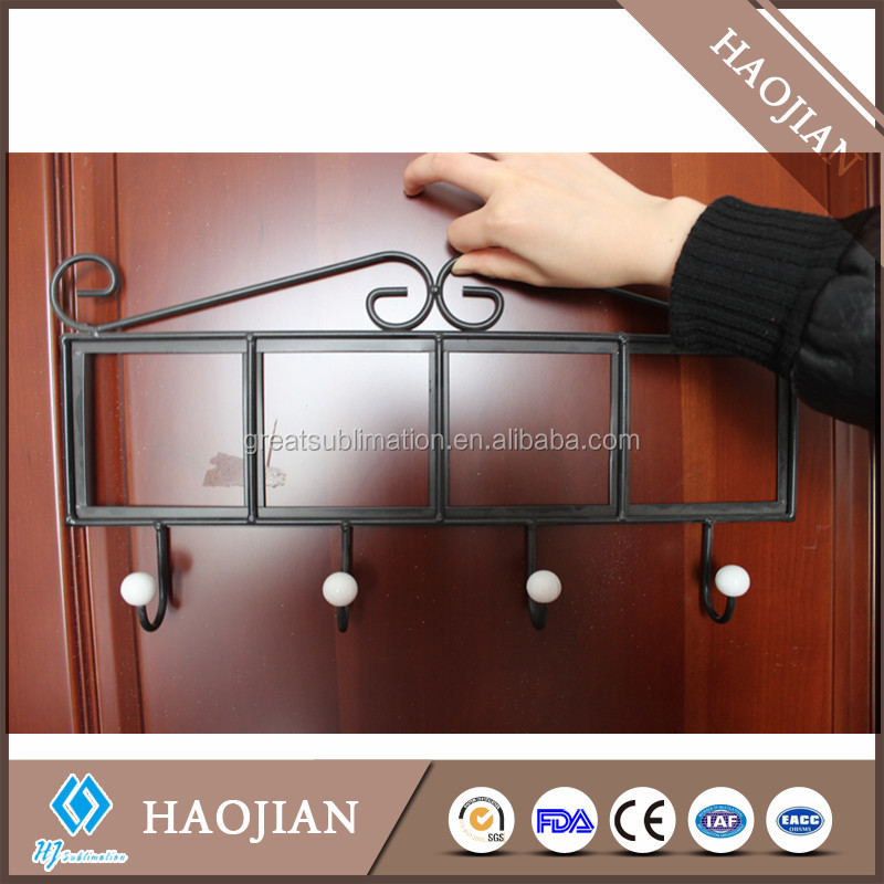 Wrought Iron Wall Coat and Clothes Rack with 4 hook