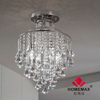 4 light decorative crystal ceiling light for hotel project