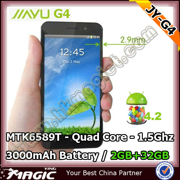 MTK6589T Mobile phone Jiayu G4 with 13mp Camera