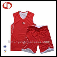 2013 Red blank basketball jersey uniform