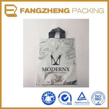 Plastic Handbag Custom logo Printing Shopping Bag