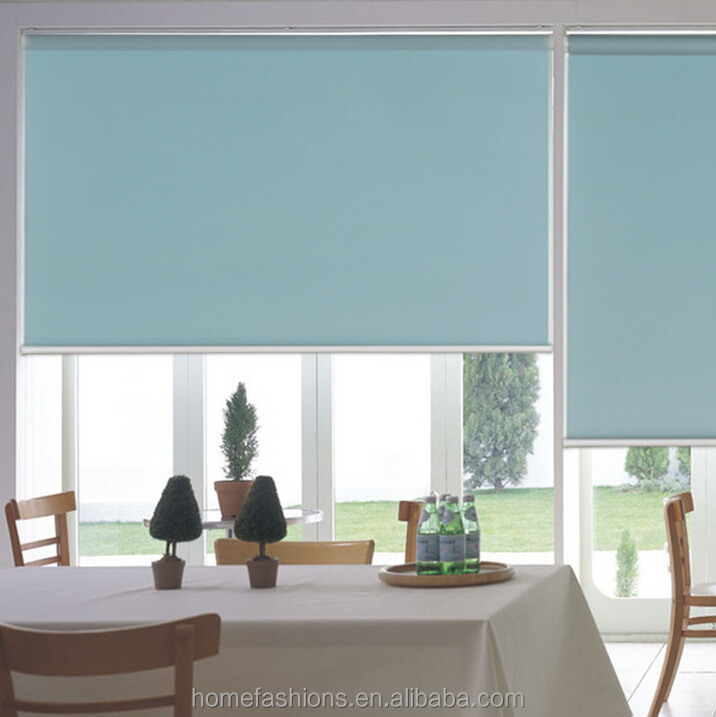 Good Quality Tubular Motor Sunscreen Roller Blinds For