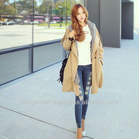 Stylish Trench Coat with Hood