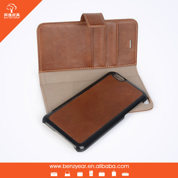 Removable flip Real Leather mobile phone case for iphone 6