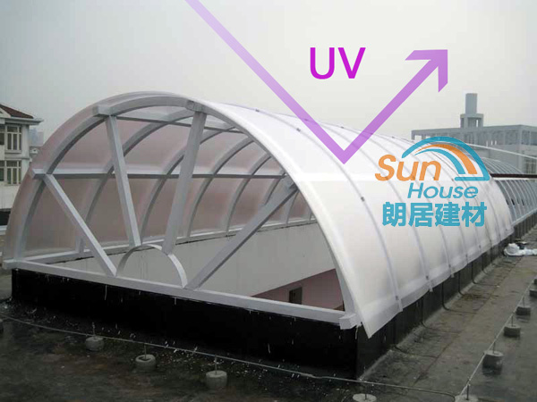 roofing polycarbonate Lexan 100% UV resistant fire proof