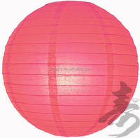 Chinese handmade round paper lantern wholesale remote controlled battery led paper lanterns