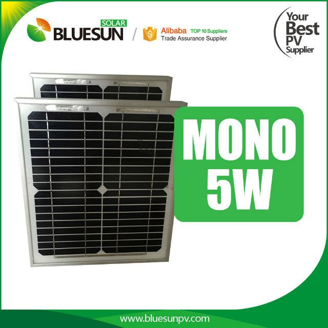 5W Mono solar panels Best price high efficiency small round solar panel