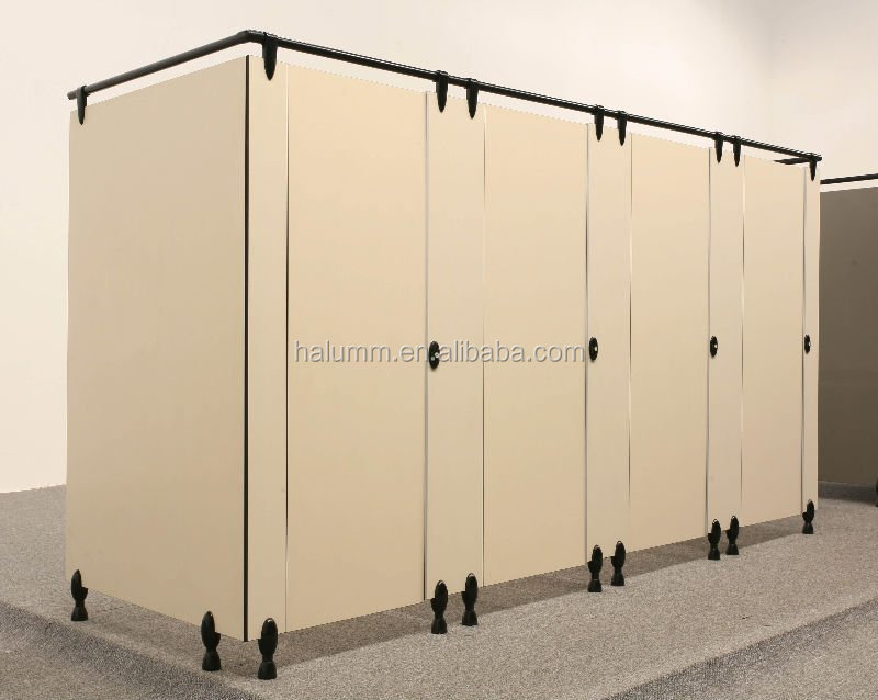 public toilet partition with HPL panel halumm toilet cubicle partition,nylon fitting toilet cubicle
