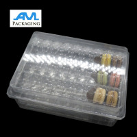 Customized Transparent Clear Plastic Macaron Packaging Box Wholesale