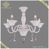Chrome plated candle sconce chanderlier pendant light dressed with crystal ornamets 5 lights