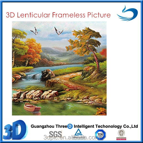 Natural Scenery 3D Lenticular Picture For Sale