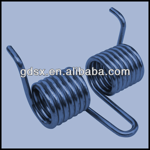 ROHS pass high quality custom black zinc plated double torsion spring,double wheel torsion spring,auto torsion spring