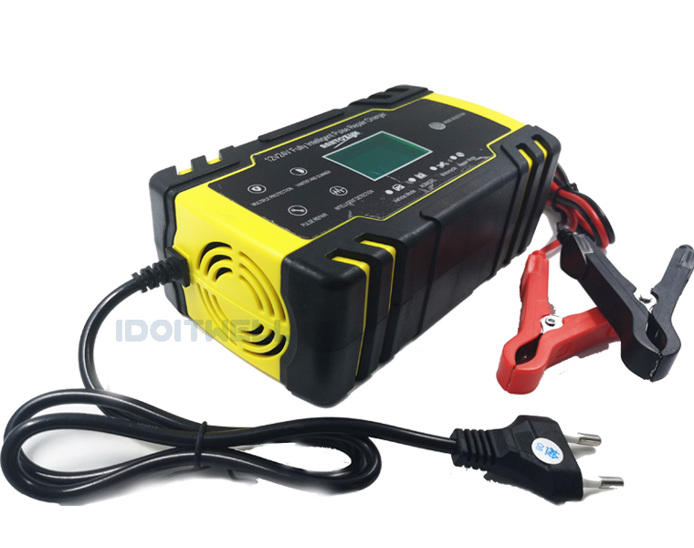 Automatic 12V 24V Motorcycle Car Battery Charger 12V 8A 24V 4A VRLA SLA AGM GEL charger Pulse Repair lead acid battery charger