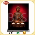 buddha wall led light art canvas picture