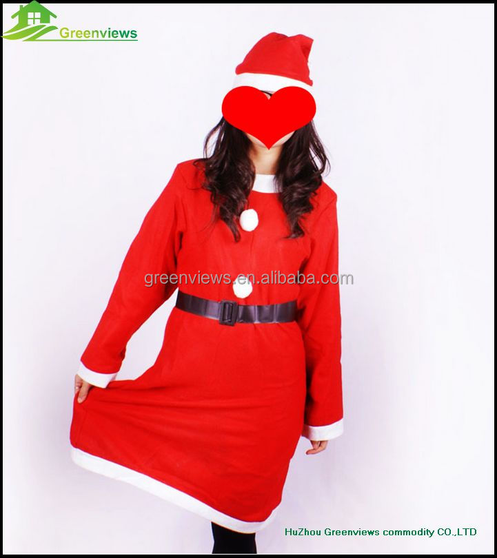 Women Christmas Dress Suit christmas ladies clothes dress suit Sexy Santa Claus Suits For Women BGSY1036