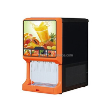 Refrigerated 4 flavour post mix dispenser for concentrate fruit juice