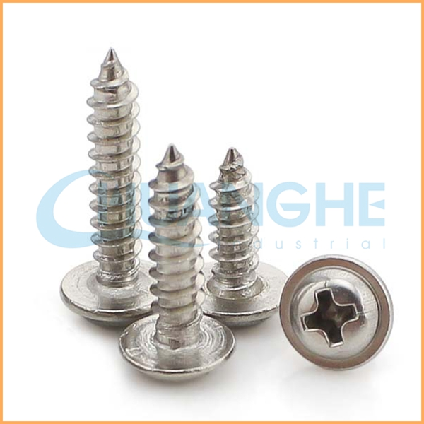 China screw factory supply galvanized truss head self tapping screw